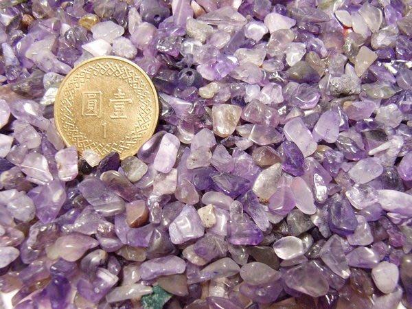 小風鈴~-精選天然紫水晶-白水晶(0.5公斤=60元)五行碎石