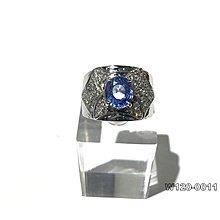 【OK質借所-萬泰當舖】天然藍寶石戒指-約3.198CT