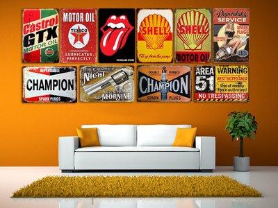 暖暖本舖 歐美風復古掛畫 披頭四 歐美復古明星大集合 復古掛飾 50年代復古畫 壁畫 餐廳裝潢 咖啡廳裝潢 室內房間裝潢
