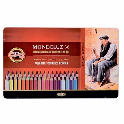 【Artshop美術用品】捷克 KOH-I-NOOR MONDELUZ 頂級水性色鉛筆 (36色) 鐵盒