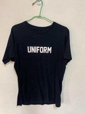 「 二手衣 」 UNIFORM EXPERIMENT 短袖上衣 3號 ( 黑 ) 9