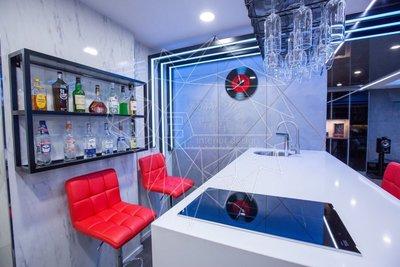 【歐雅系統家具】客製化 流線時尚客廳 廚房 吧台 現代前衛科技宅