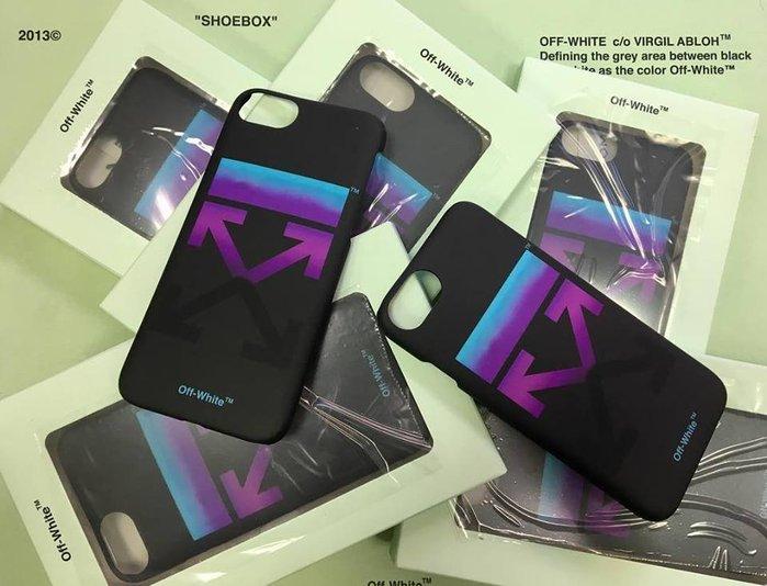 [ 羅崴森林 ] 現貨OFF-WHITE FW18 Gradient arrow logo漸層箭頭iPhone8/7機殼