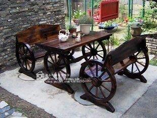 INPHIC-田園風,懷古風→炭化木防腐木休閒桌椅酒吧桌椅