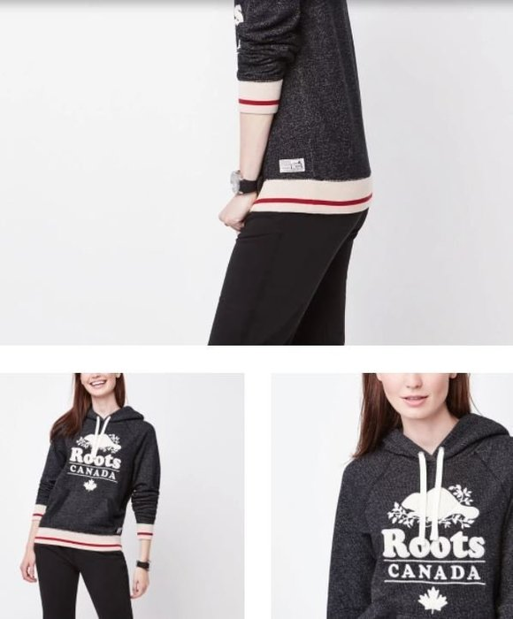 ~☆.•°莎莎~*~☆~加拿大Roots Roots Cabin Chenille Hoody 連帽T恤~