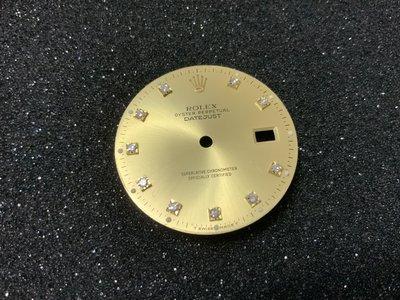 HAPPY DAY 原裝勞力士 16233 16013 後鑲十鑽面 可直接裝用