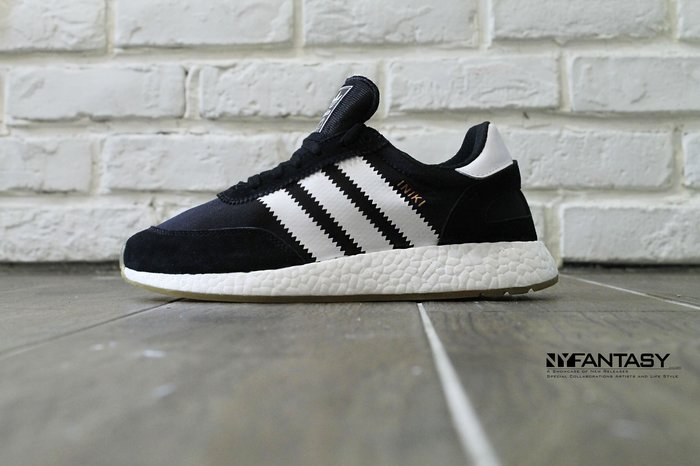 【美國鞋校】現貨 Adidas Iniki Runner Shoes 黑白 麂皮 燙金 慢跑鞋 余文樂 BY9727