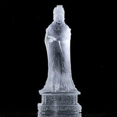 【睿智精品】琉璃媽祖 天上聖母 媽祖神像 媽祖娘娘神像 琉璃神像(GA-4614)