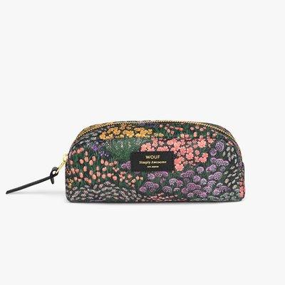 西班牙 WOUF Meadow 草地花朵 防水帆布 化妝包萬用包 小號  歐洲代購