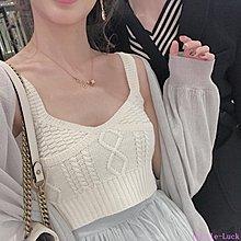 Little-Luck~ acaine阿彩呢 針織衫女2019春網紅外搭寬松慵懶風很仙的毛衣開衫