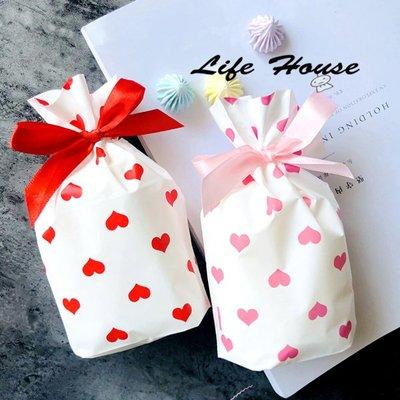 紅色愛心束口袋 小款 婚禮小物束口袋 ...