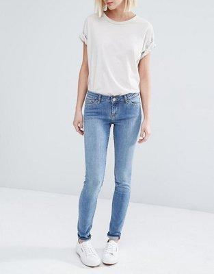 [Weekday-Saturday Low Waist Skinny Jeans Hyman Blue] Size:28