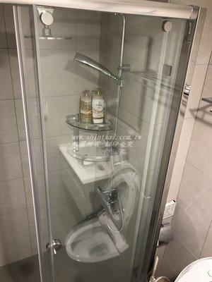 shintsai玻璃  淋浴拉門乾濕分離 隔間玻璃 浴室無框式乾濕分離 玻璃拉門 推門 五角型 一字型 L型
