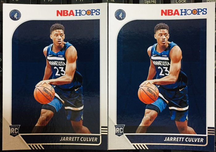 Jarrett Culver (2) 2019-20 PANINI HOOPS #203 RC 新人卡 2張 灰狼隊