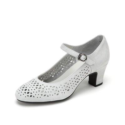 夏季必備 細跟單鞋achette雅氏4L51 春夏新款鏤空透氣高跟粗跟涼鞋女瑪麗珍單鞋