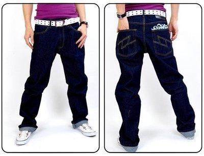 全新 FULFILL 高磅硬挺 閃電LOGO 經典原色單寧牛仔褲 200含運費