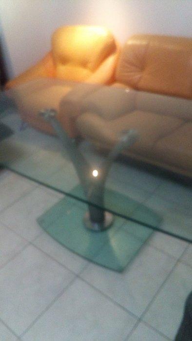 透明晶亮 辦公桌 餐桌 氣派十足 進口玻璃製成 厚度15m/m 成品約.80公斤 很穩固 安全