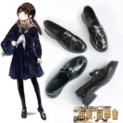 女皮鞋 小皮鞋女學生韓版百搭軟妹秋季復古漆皮英倫黑色單鞋 【同學會】