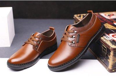 『老兵牛仔』CK-989新款舒適軟底休閒圓頭男鞋/二層牛皮/時尚/彈力/耐摩/個性