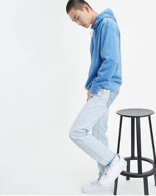 【高價新款28-44腰】美國LEVI S 501 TURNED 淺藍 仿舊 洗白 排扣 直筒褲 牛仔褲 單寧褲 百搭