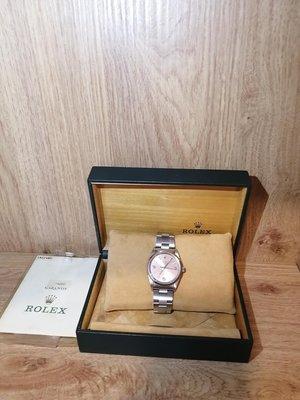 勞力士 ROLEX AIR KING 14000 玫瑰金錶面含保卡