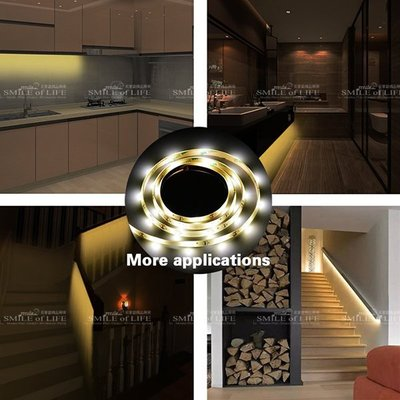LED 人體紅外感應燈 電池款 1米30燈 暖白光 led廚櫃櫃底燈 廚房燈 衣櫃燈 床底感應燈照明☆司麥歐藝術精品照明