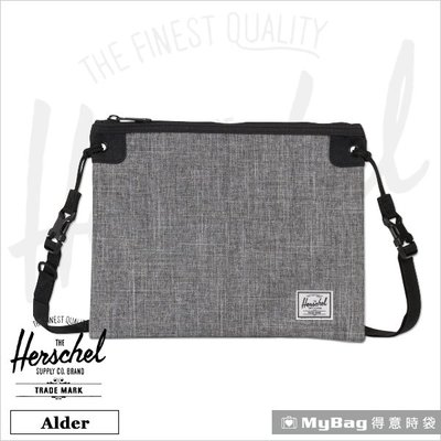 Herschel 側背包 灰色 簡約隨身斜背小方包 Alder-919  得意時袋
