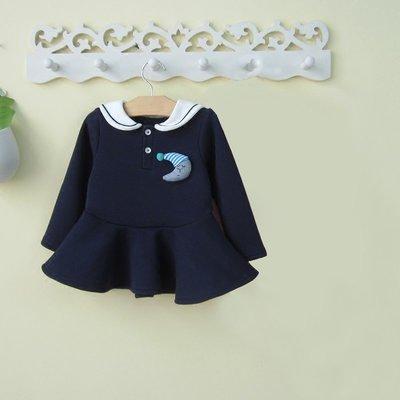 艾町Eyeing Shop 斷碼出清 韓版冬款加絨加厚俏麗學院風貓咪領造型裙  魚尾連身裙 洋裝 過年新衣 拜年衣
