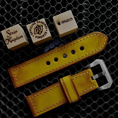 Vintage Yellow Hand-dyed Cowhide Strap
