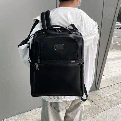 *蓝天小舖*下殺 TUMI 9603177D3 Alpha3系列簡約休閑男士全真皮雙肩背包 15吋電腦包 後背包 黑色