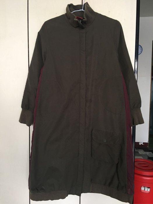 。☆二手☆。GELEBETE女童長版舖棉刷毛外套//12A//衣長94cm