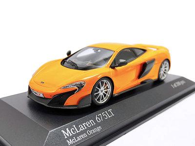 【秉田屋】現貨 Minichamps McLaren 麥拉倫 675LT 675 LT Long Tail 橘 1/43