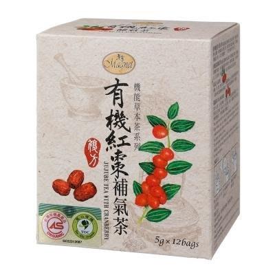 ~* 品味人生 *~  3盒免運 曼寧 有機紅棗補氣茶 5g*12 成份:有機蔓越莓、有機黑莓葉