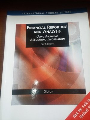 (30)《Financial Reporting and Analysis 10e》│八成新