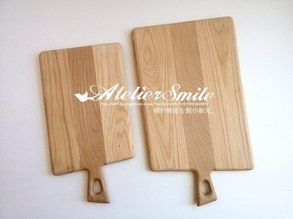 [ Atelier Smile ] 鄉村雜貨 歐洲進口橡木 烘焙廚房專用 MUJI風橡木砧板 小款 (現貨)