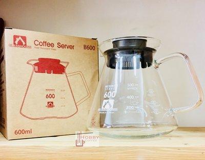 【豐原哈比店面經營】☆台灣製造☆GLASSHOUSE 方型手把耐熱咖啡壺 玻璃壺-600CC 另有360CC可選擇