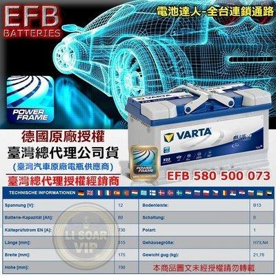 VARTA F22 EFB 80AH LN4 華達 汽車電池 SHARAN BENZ C300 E200 E300