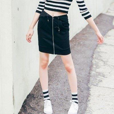 短裙 棉質半身裙子-經典個性間簡約百搭女裙裝2色73hv44[獨家進口][米蘭精品]