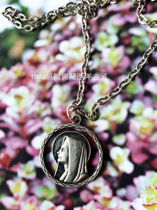 黑爾典藏西洋古董~義大利聖母瑪麗亞項鍊/墜~信仰十字宗教系列羅馬天主基督