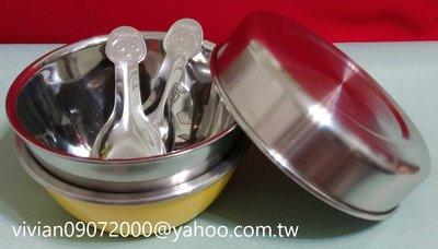 攜帶系列~2入隔熱碗/1個不鏽鋼上蓋(加厚款可當菜盤) /2支18-8(正304)貓熊不鏽鋼湯匙)