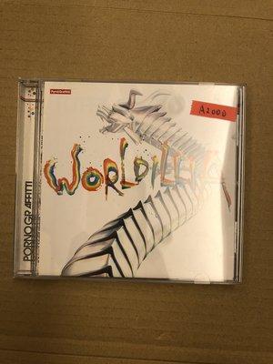 *還有唱片二館*PORNO GRAAFITTI / WORLDILLIA 二手 A2000 (下標幫結)