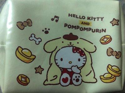 玟玟珍藏區— 7-11福袋 Hello Kitty 雙拉鍊化妝包 布丁狗款