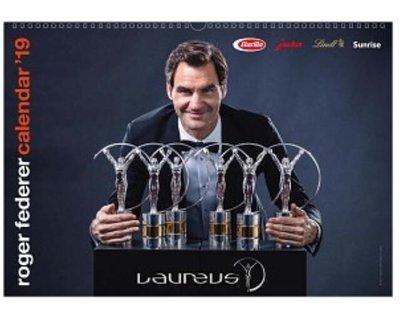 費德勒 2019 RF 基金會官方版 年曆 月曆 Roger Federer Calendar