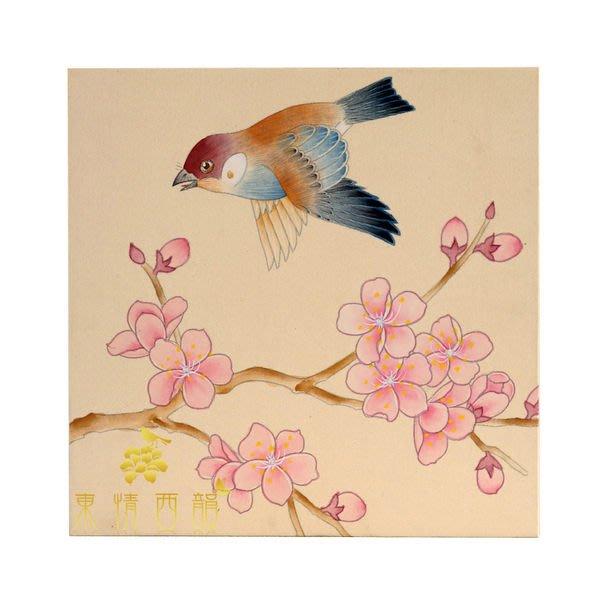 【芮洛蔓 La Romance】東情西韻系列手繪迷你絹絲畫飾 F / 壁飾 / 掛飾