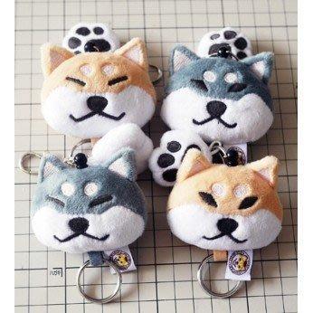 柴犬吊飾-柴犬鑰匙圈-柴犬公仔娃娃~共有6款哦~寵物鑰匙圈