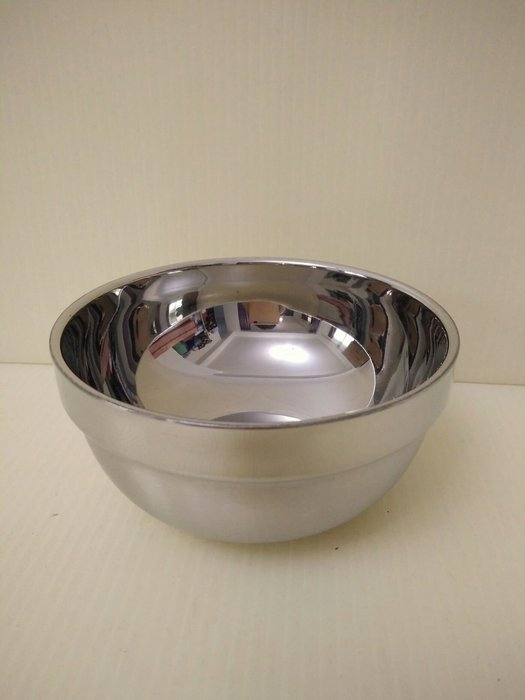 缺貨中勿下標(巧晶)隔熱碗/雙層碗/不鏽鋼碗/兒童餐具 304(18-8)不鏽鋼12CM