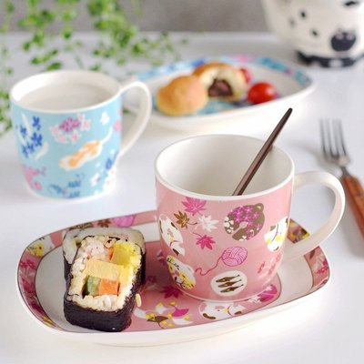 聚吉小屋 #熱賣#擼貓喵星人日式一人食早餐盤軟萌治愈系下午茶餐具賣萌擺拍高顏值(價格不同 請諮詢後再下標)