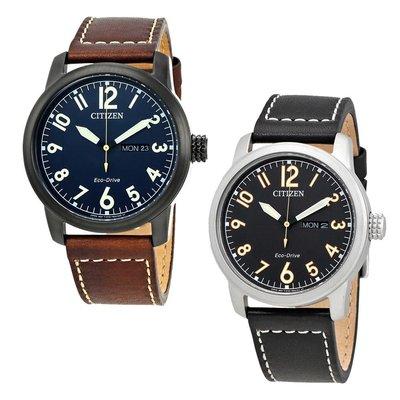 【換日線】男錶 Citizen Chandler Eco-Drive Men's Leather Watch - Choose color