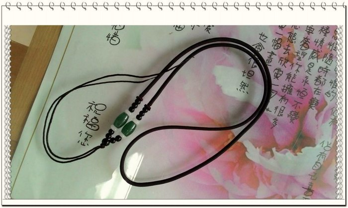 【玉珠毛線鏈繩-咖啡色 】項鍊繩,香包,鈴鐺線繩 中國結編織線,飾品配件,掛飾----