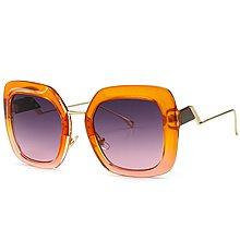 [馳騁]2001現貨7-11全家快速到貨韓國韓版鏡框墨鏡太陽眼鏡鏡框春款跨境專供歐美復古太陽鏡貓眼方形漸變色墨鏡街拍FF